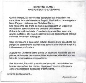 Article d'Agnès Bonnet
