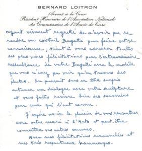 Bernard Loitron sur le buste de Bugatti