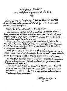 Philippe du Peuty sur le buste de Django