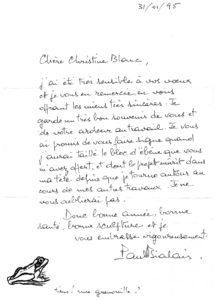 Lettre de Paul Bialais
