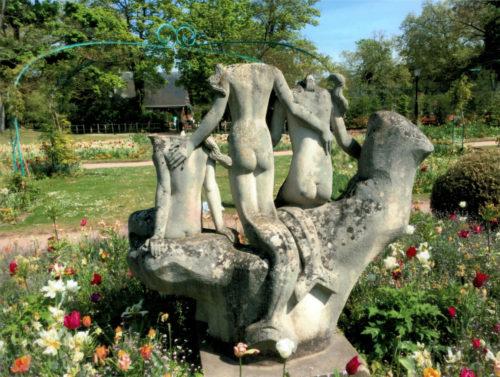 Statues avant restauration de dos